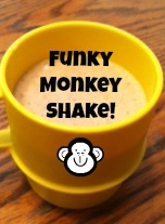 Funky Monkey Shake! Are you looking for a healthy snack for your little monkey? Try this fun snack as a great alternative to ice cream! Adventures In Mindful Living