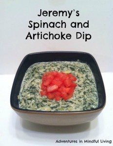 Jeremy's Spinach and Artichoke Dip @ Adventures in Mindful Living
