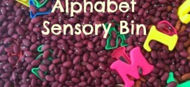 Alphabet Sensory Bin! A super fun way to let kids learn through play! Adventures in Mindful Livings Letter Fun Series!
