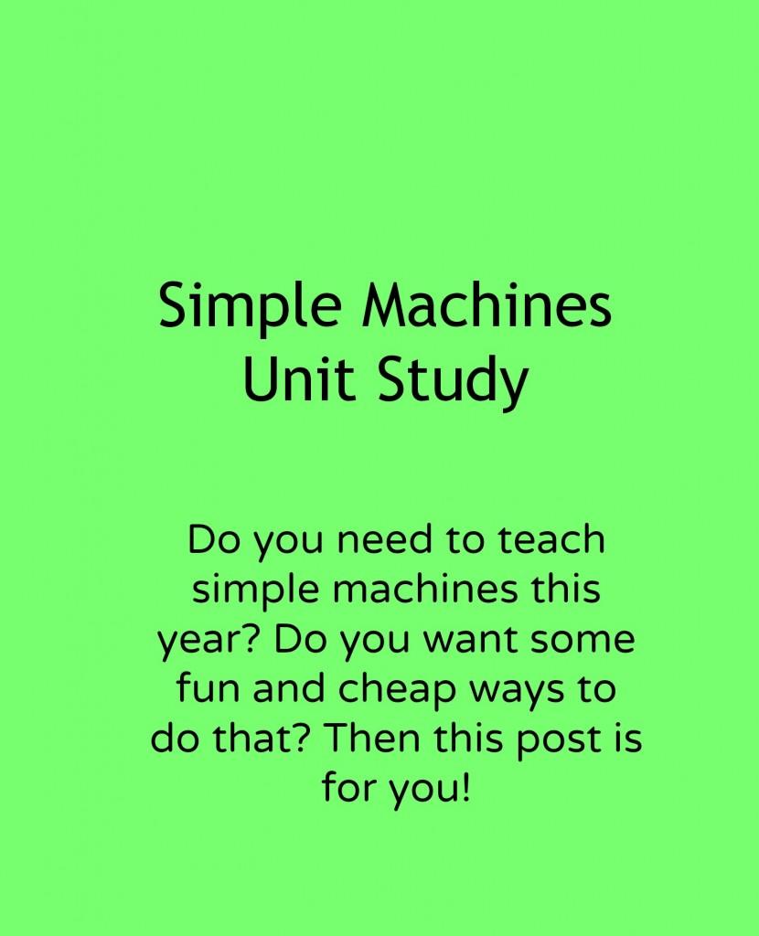 worksheet Bill Nye Simple Machines Worksheet simple machines unit study adventures in mindful living