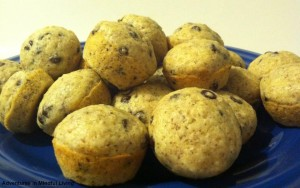 Chocolate Chip Mini Muffins! Easy to make!! (egg and dairy free!)