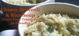 Cheesy Broccoli and Rice Soup- a healthier version of your old favorite one!