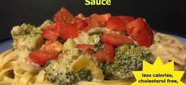 Healthier Alfredo Sauce!less calories, cholesterol free, dairy free, and much healthier for you!