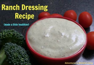 Ranch Dressing Recipe (made a little healthier)