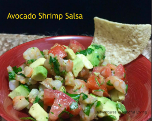 Avocado Shrimp Salsa - so easy to make! Makes a great snack or light meal! Adventures in Mindful Living