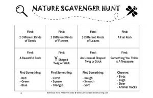 Nature Scavenger Hunt free printable. Are you looking for way to enjoy the outdoors with your kiddos? Come check this out!